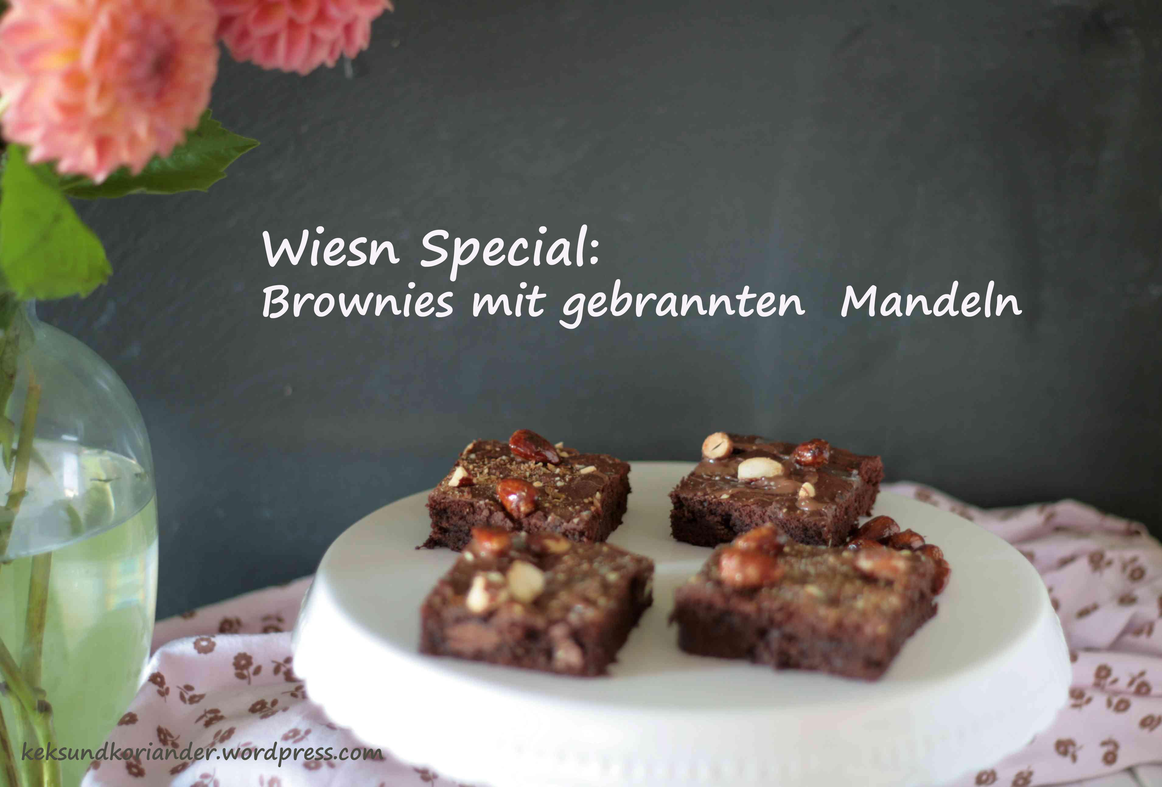Brownies Vollbild mit Blumen und 2x Schrift