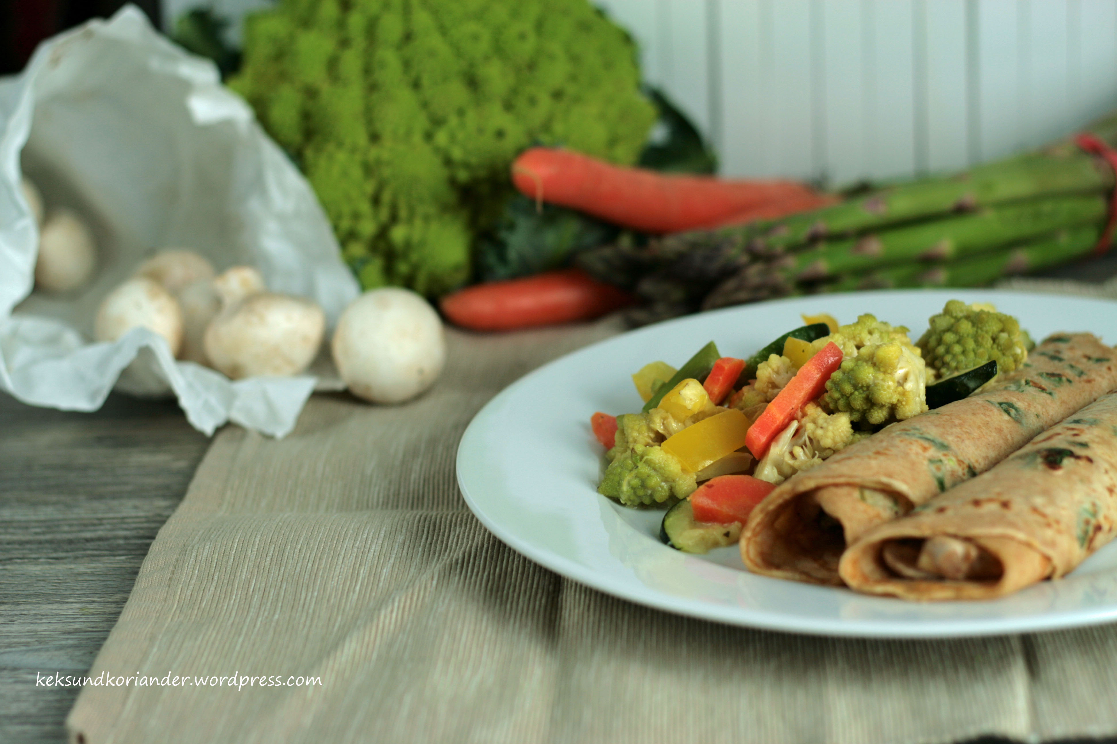 Bärlauchpfannkuchen mit Pilzfüllung2
