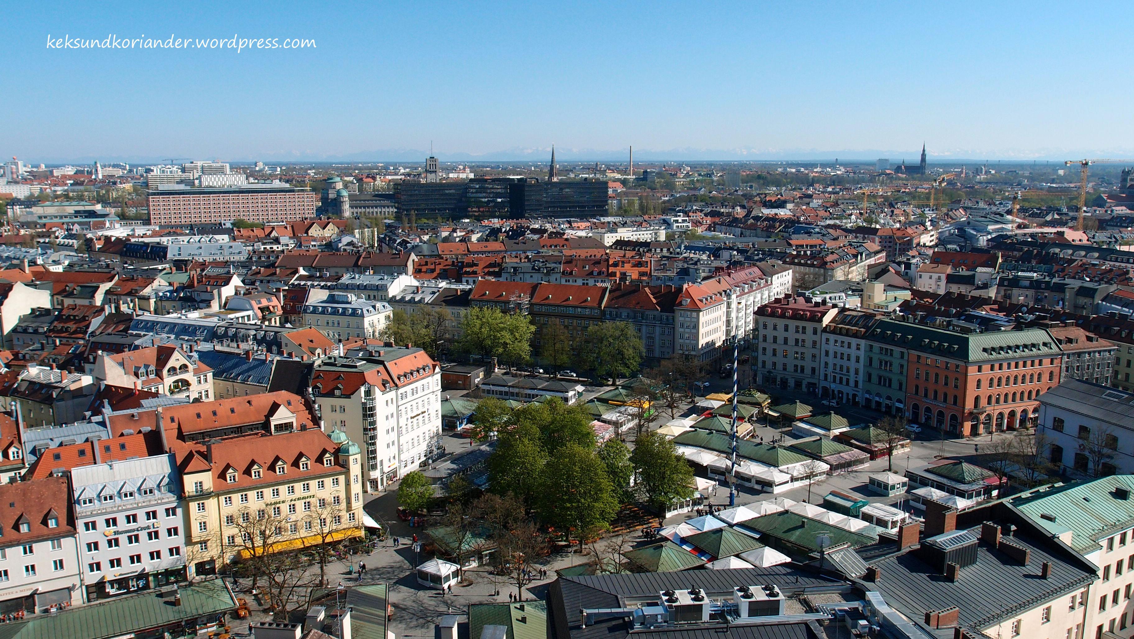 Viktualienmarkt Aussicht München Alter Peter Marienplatz