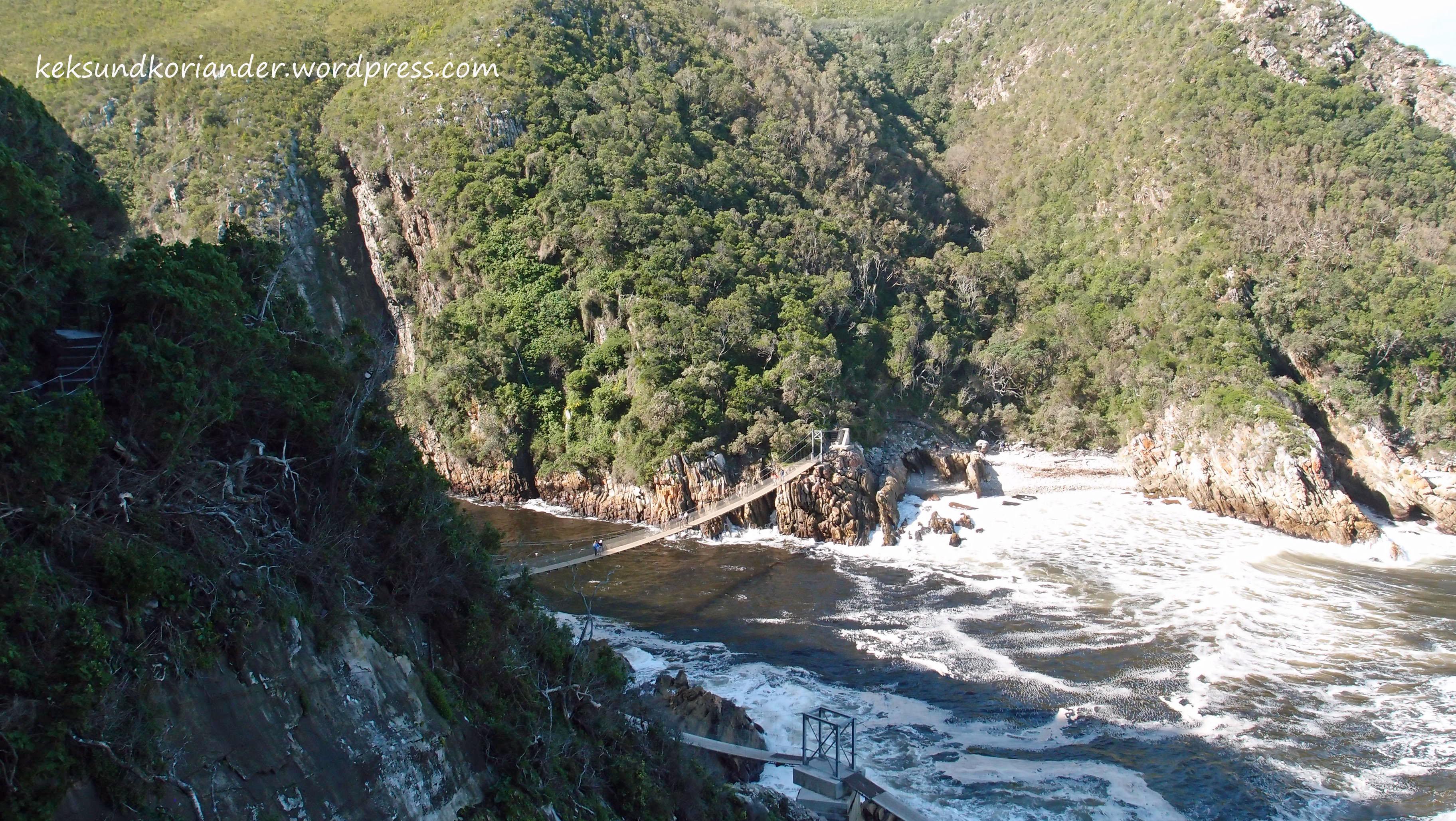Tsitsikamma National Park Südafrika Gardenroute Hängebrücke Suspension Bridge