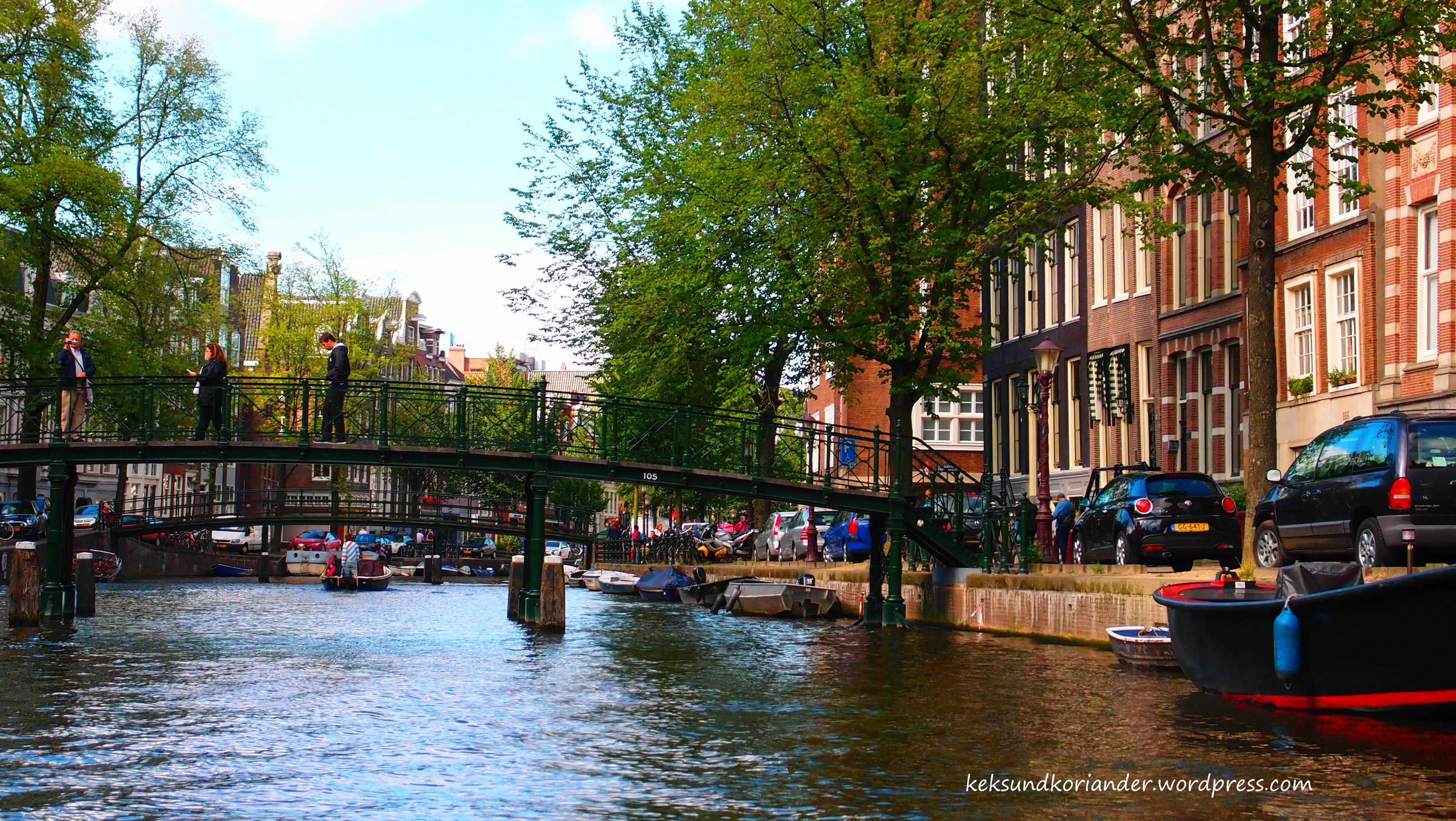 Grachtenfahrt Amsterdam Niederlande