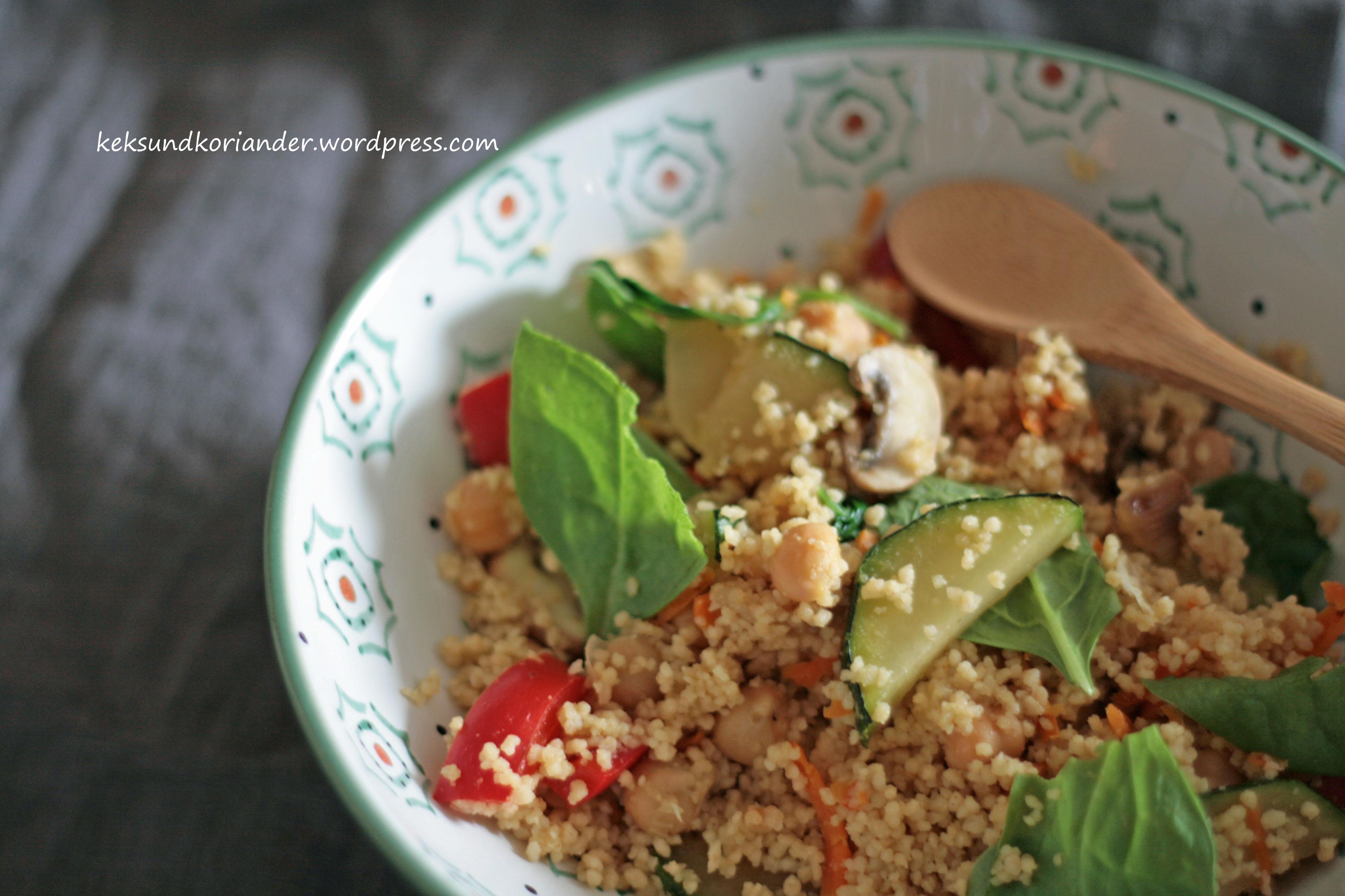 Couscous mit Gemüse und Kichererbsen2