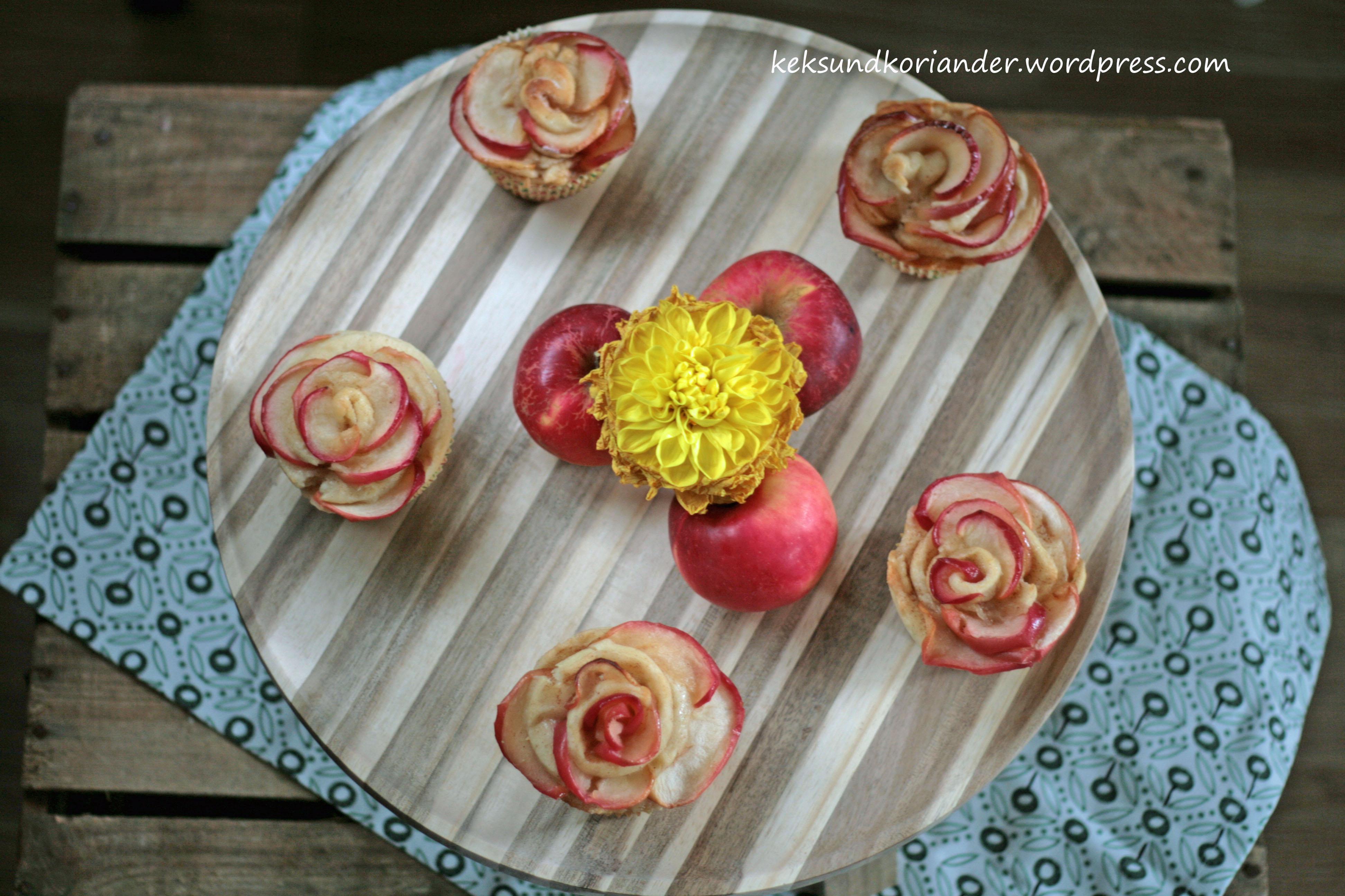 Apfelblumen Muffins Schnecken Joghurt-Öl-Teig Zimt2