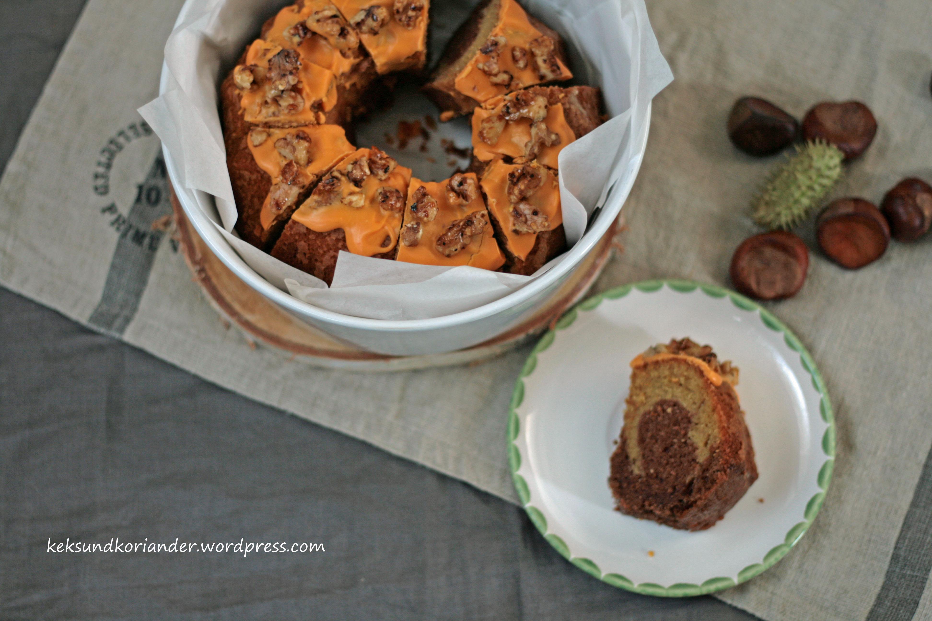 Kürbismarmorkuchen mit ZImt und karamelissierten Walnüssen3