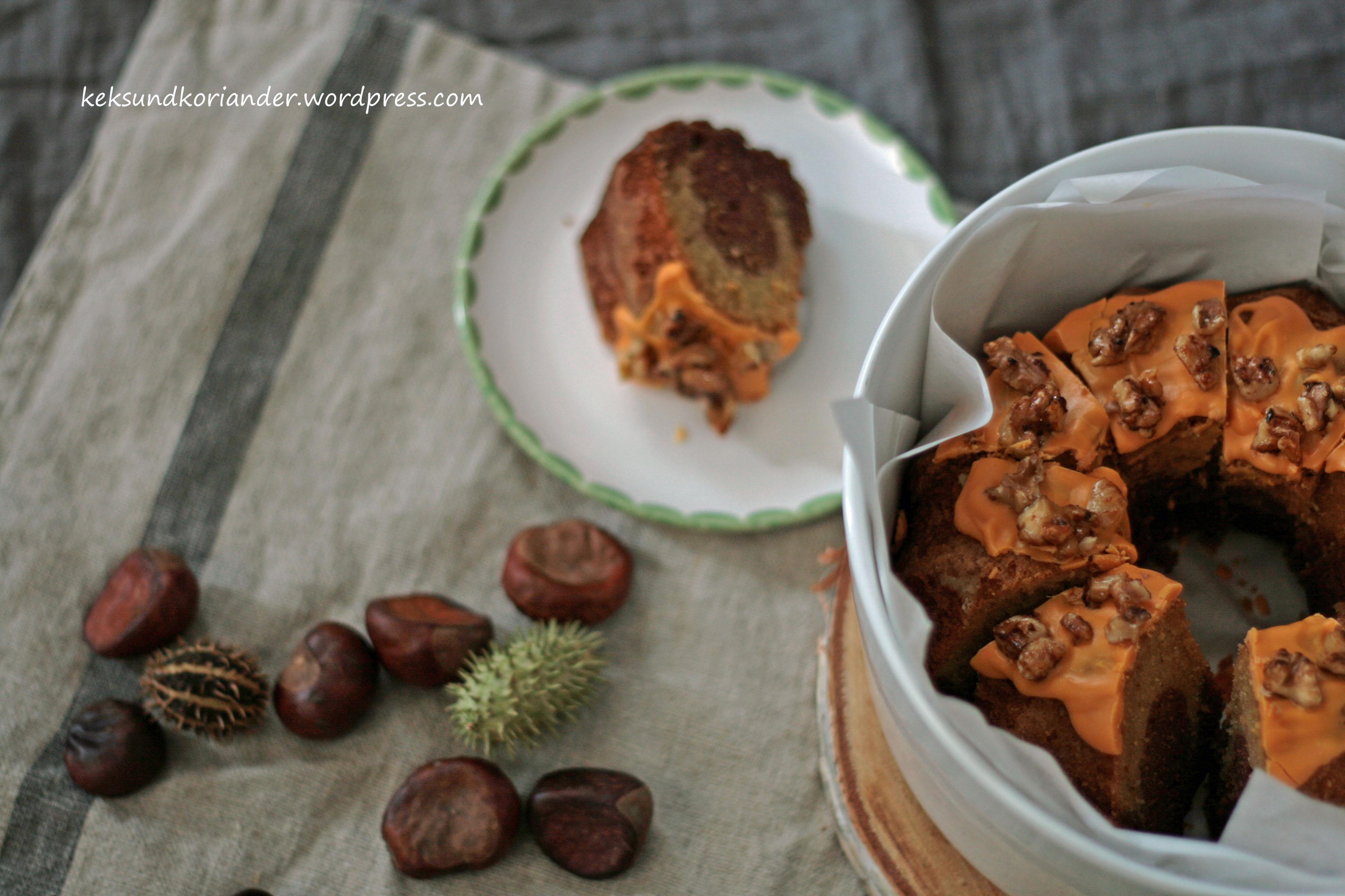 Kürbismarmorkuchen mit ZImt und karamelissierten Walnüssen4