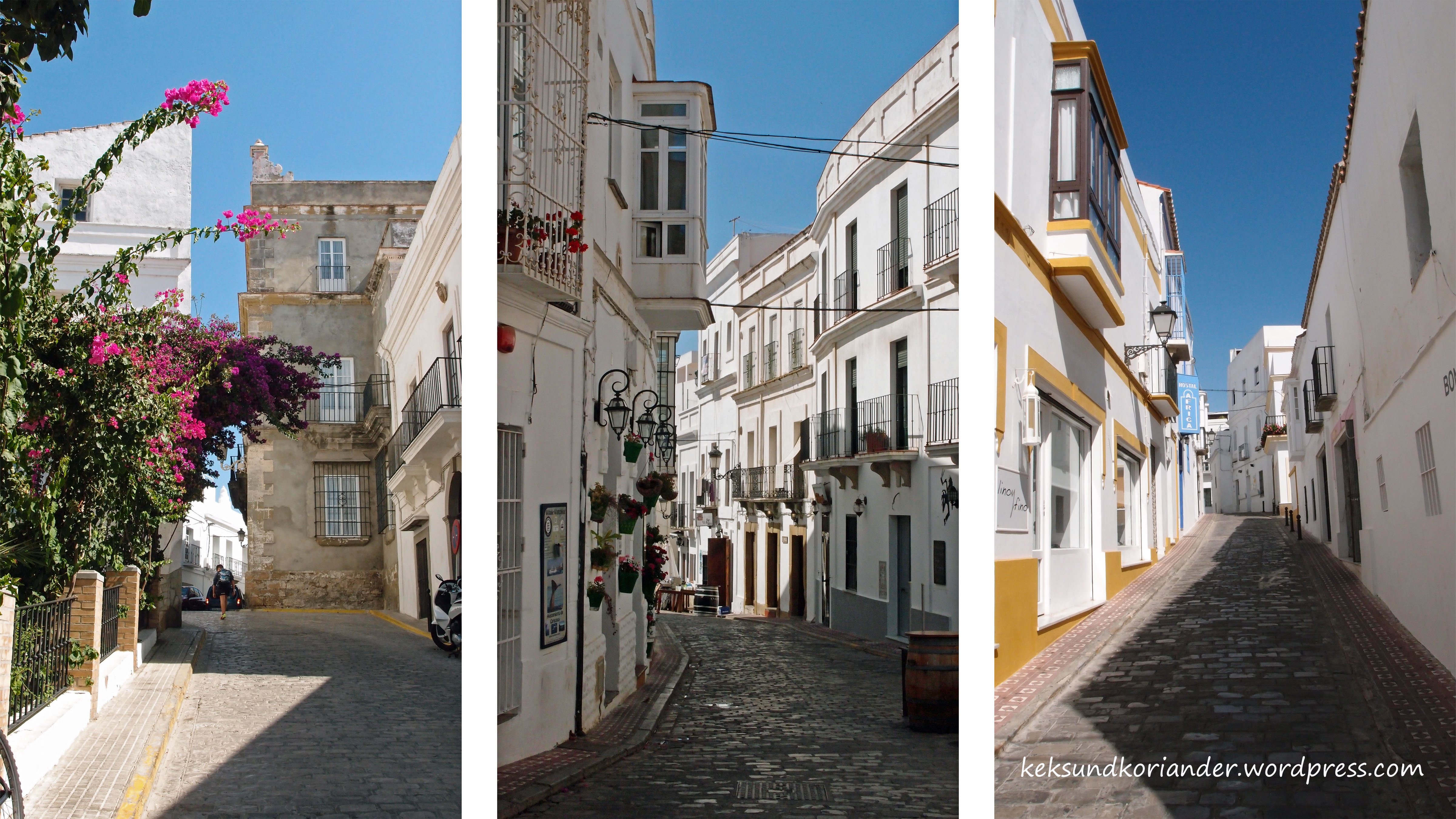 Tarifa Andalusien Spanien Altstadt weiß2