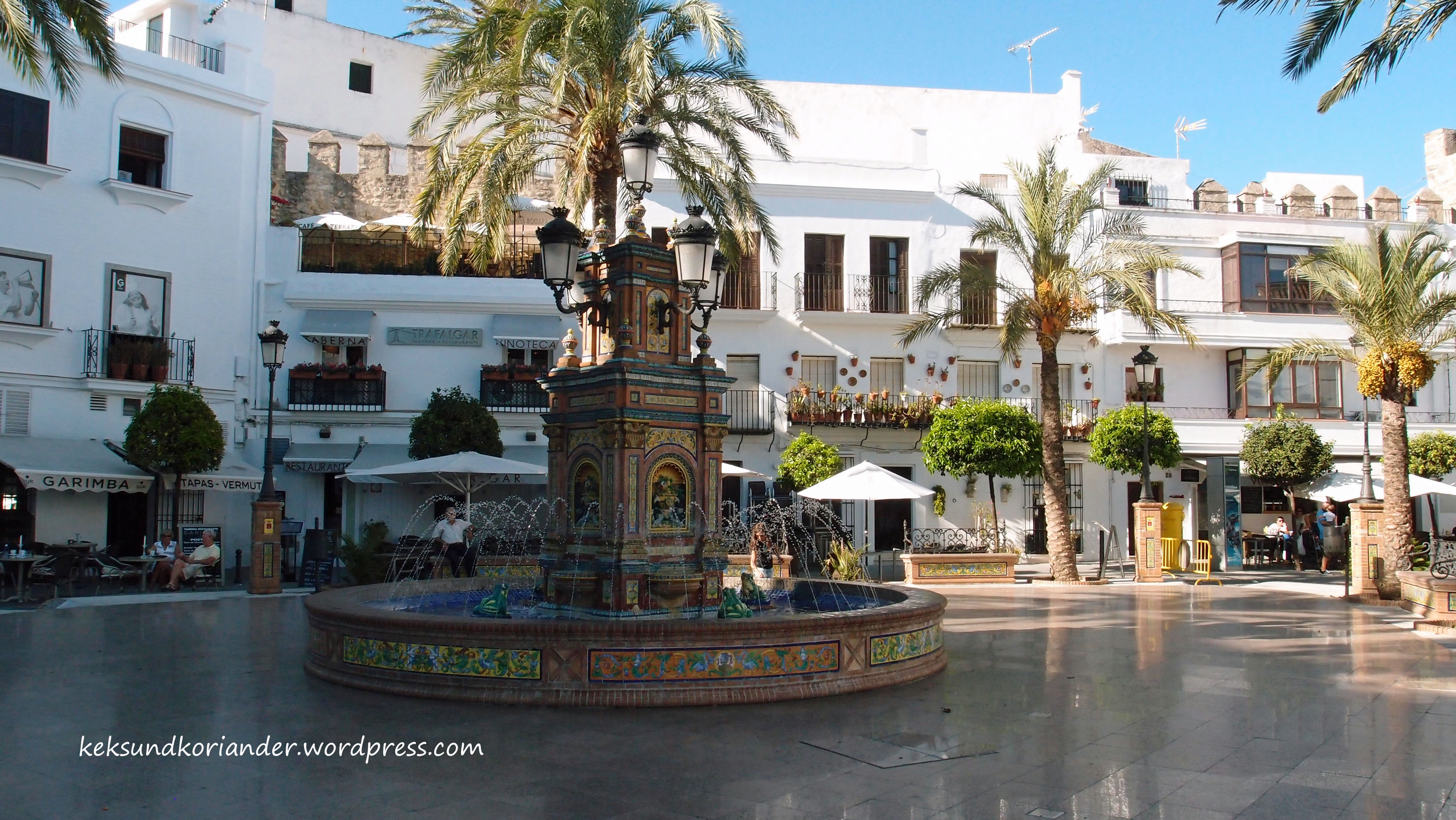 Vejer de la Frontera Andalusien Spanien Altstadt Brunnen