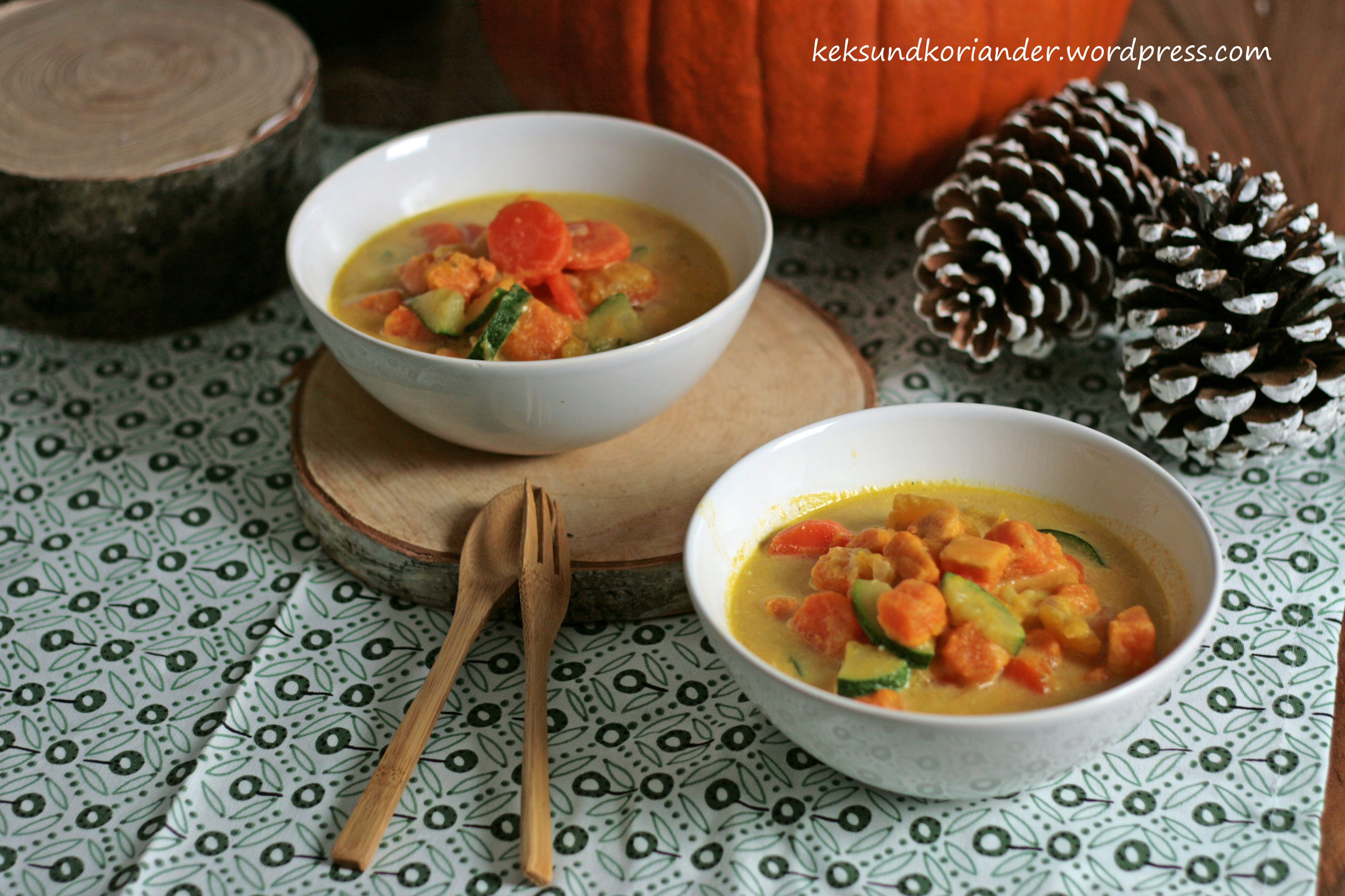 Kürbis-Süßkartoffel-Eintopf mit Curry