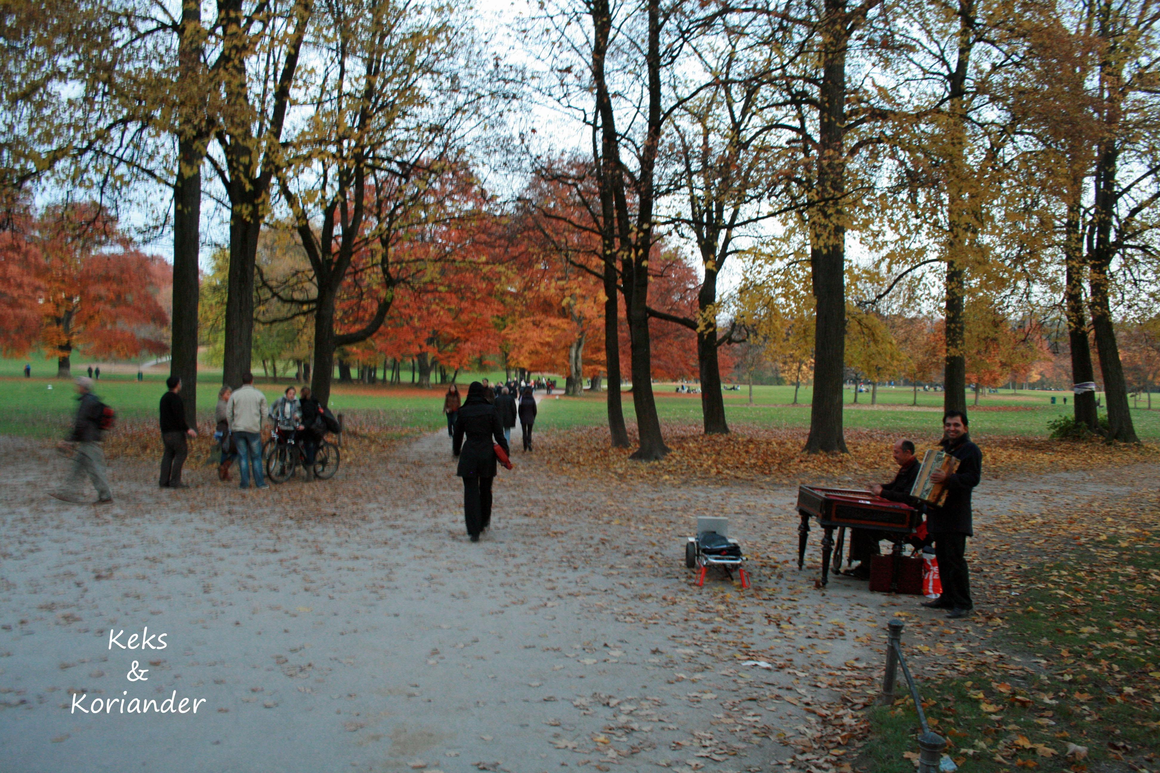 München englischer Garten Herbst