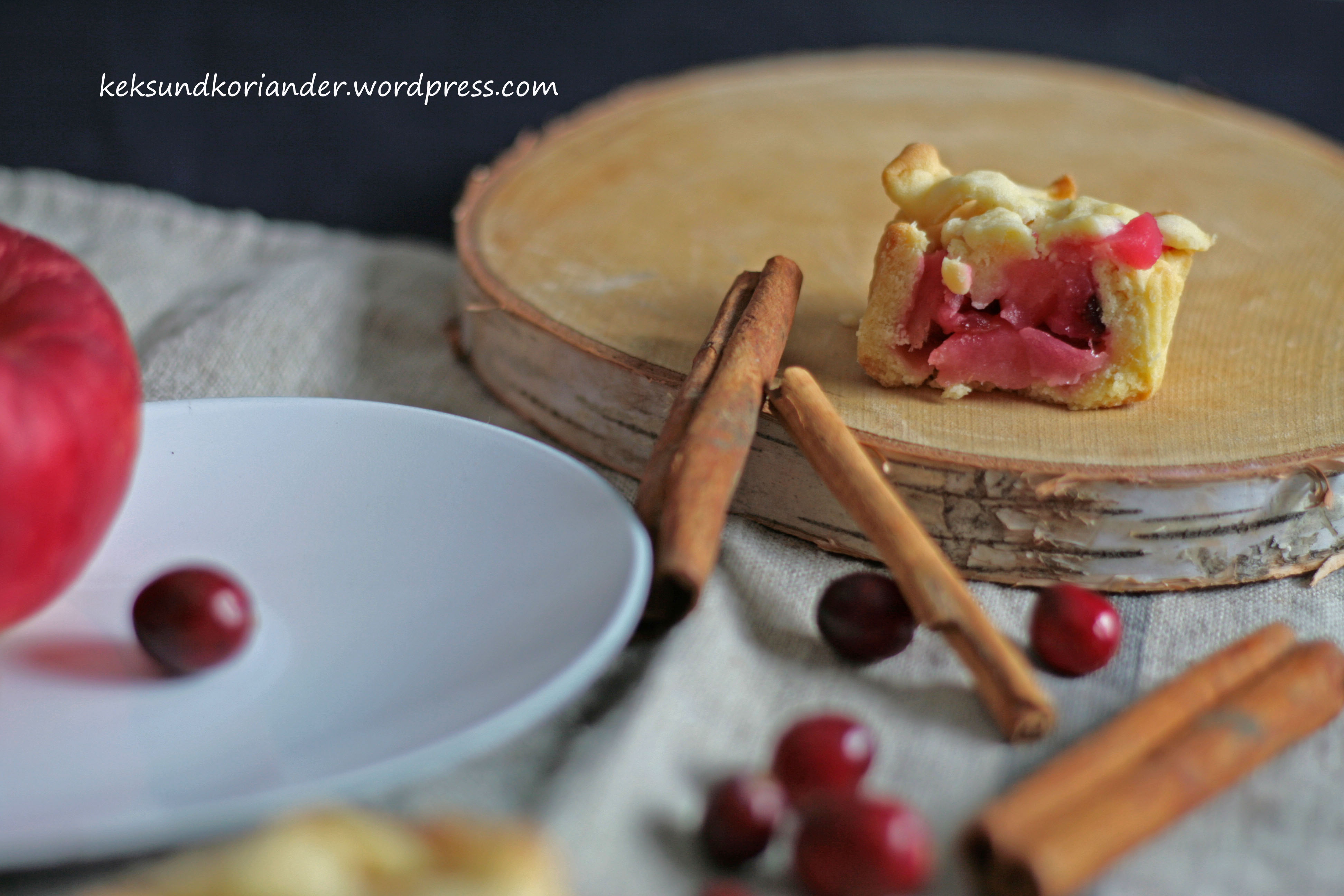 Mini Apple Cranberry Pie mit Zimt 3