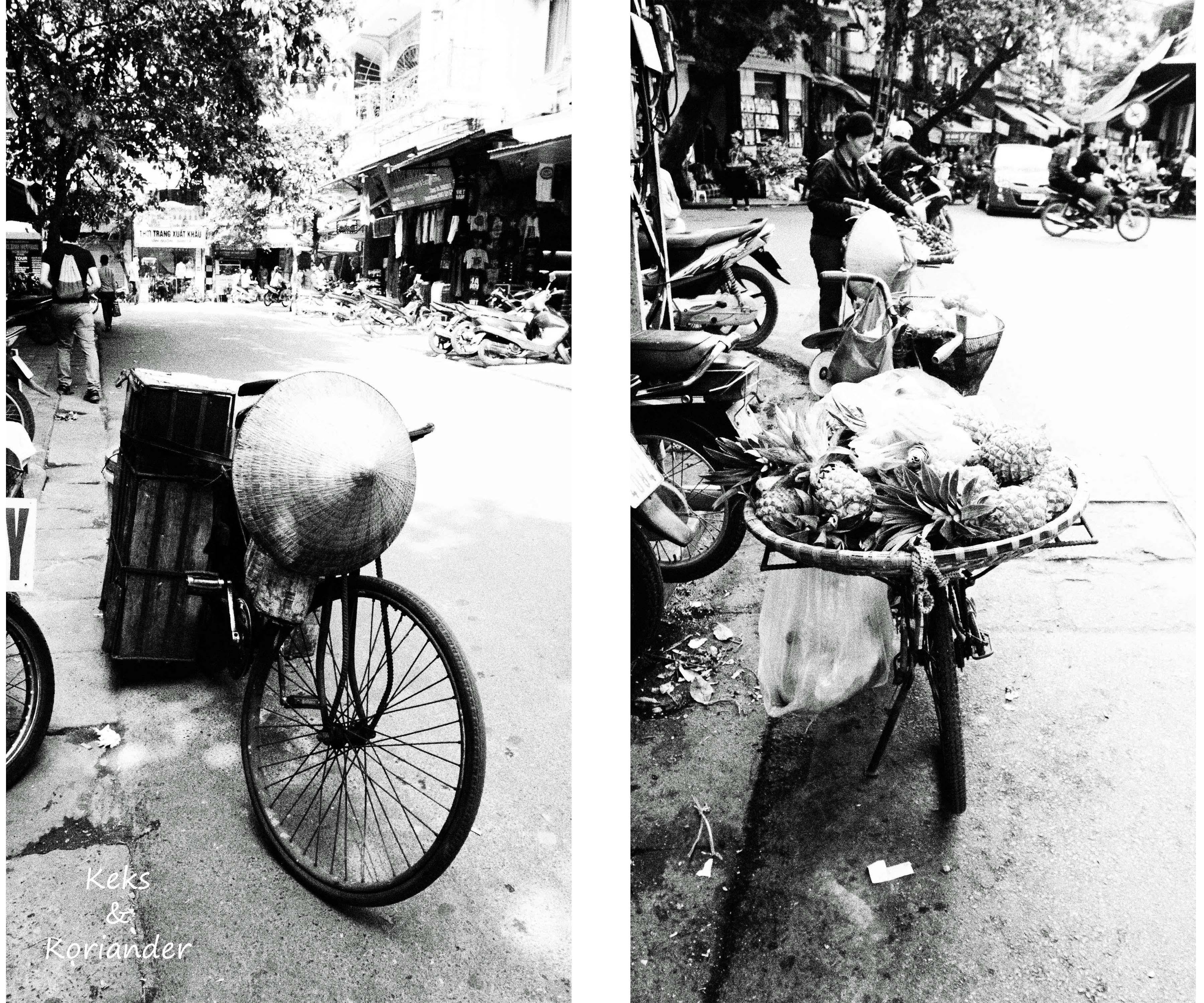 Hanoi Vietnam Fahrräder Transport