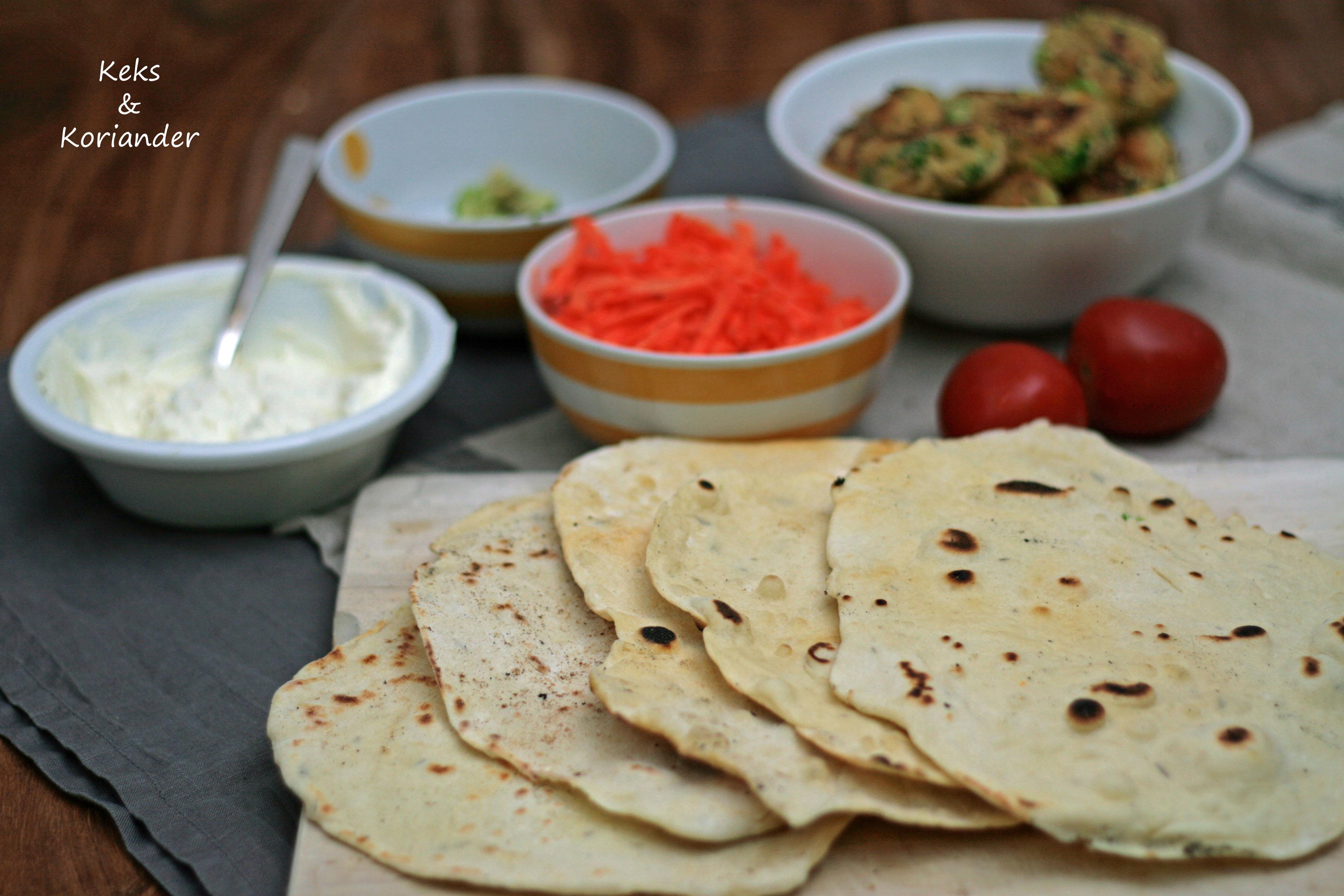 Wraps mit Falafel, Spinat, Karotte, zum Mitnehmen, take away 4