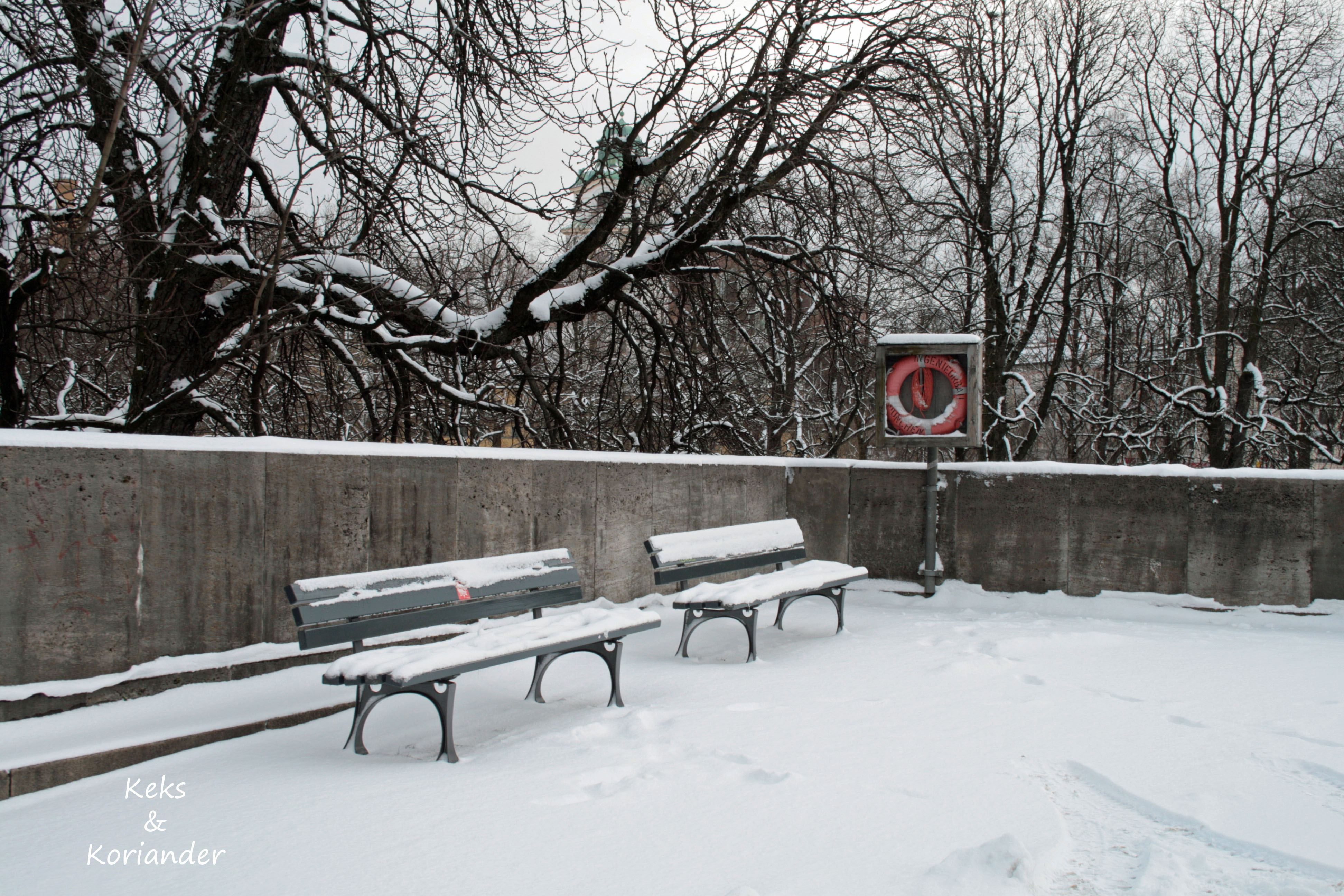 Isar München Winter