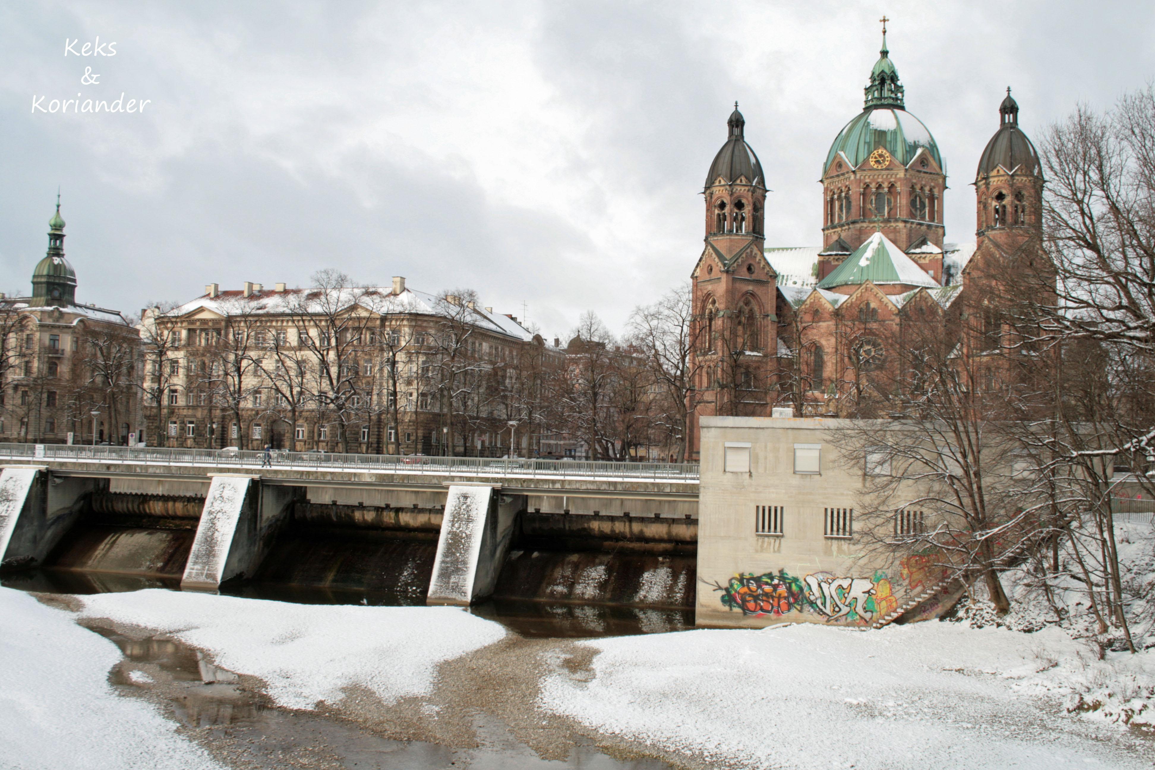 München Isar Winter