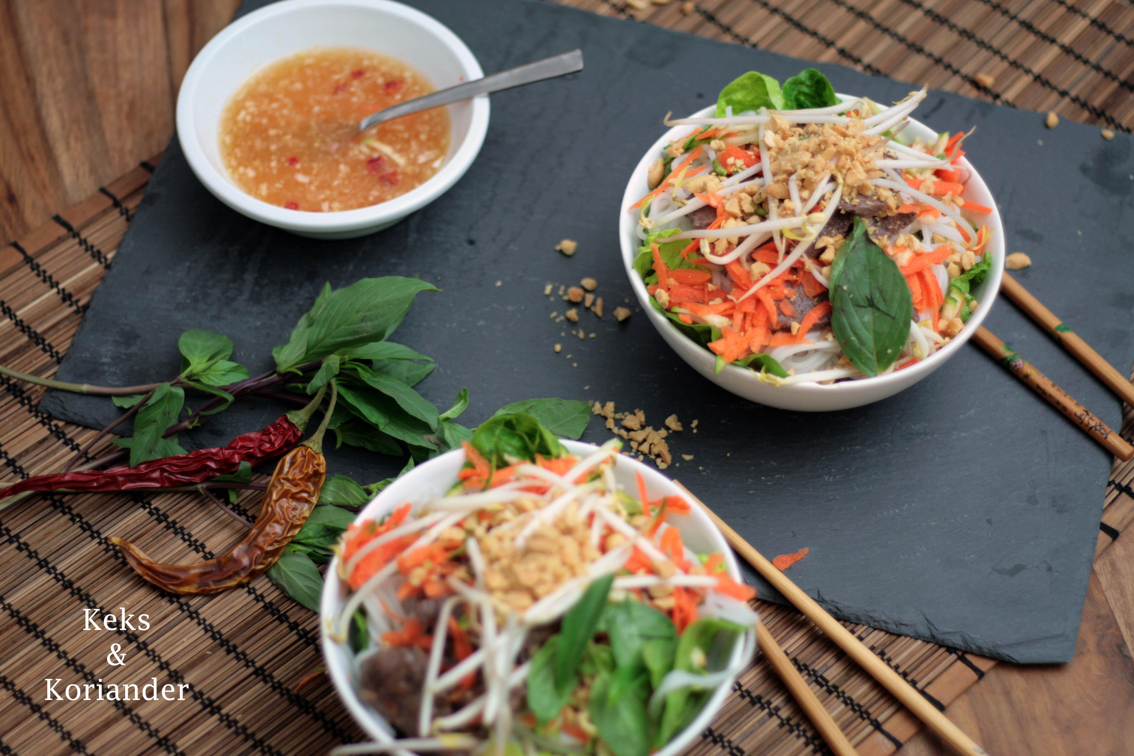 Bun Bo Nam Bo vietnamesischer Rindfleischsalat 2