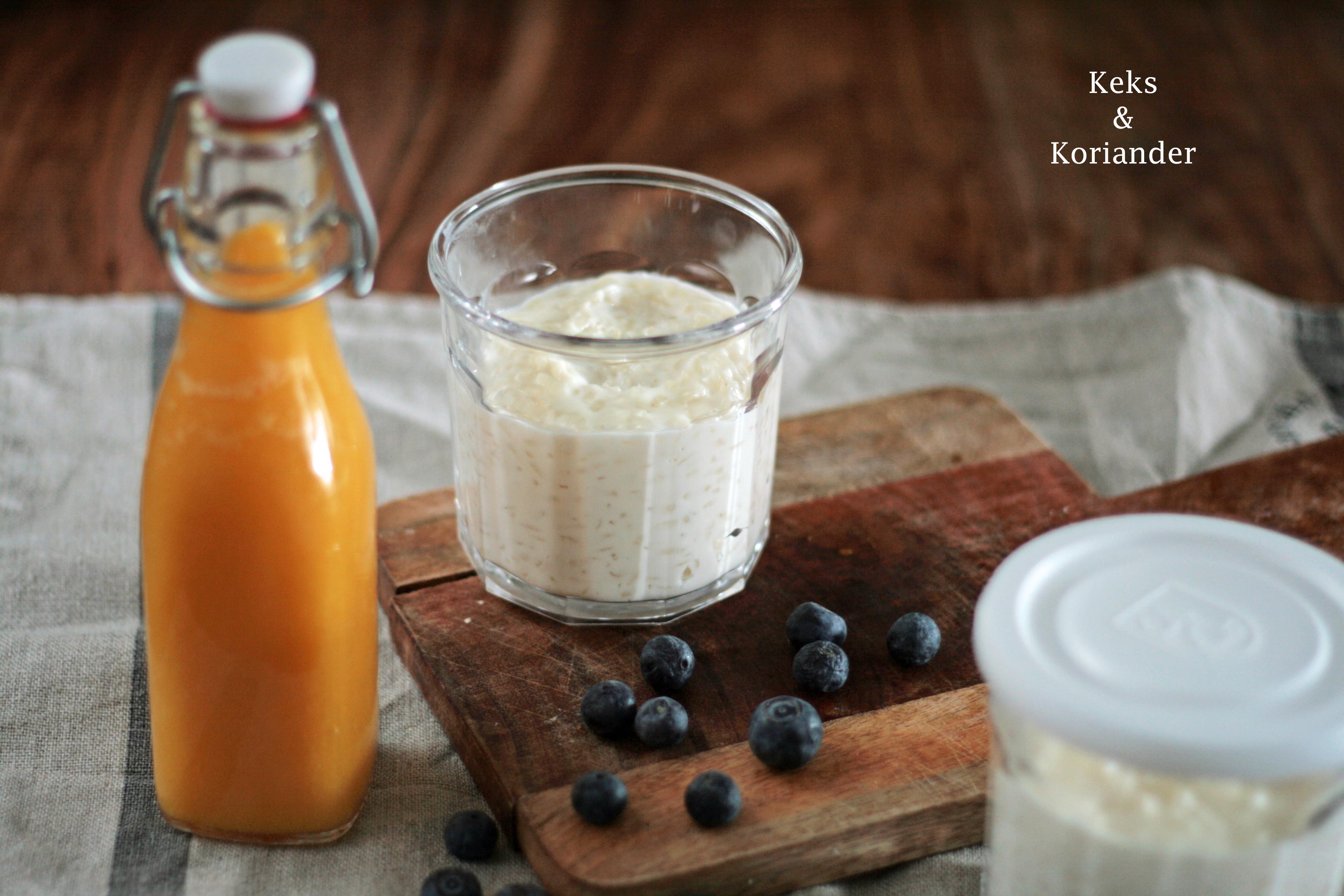 Kokosmilchreis mit Mango Birnen Spiegel 4