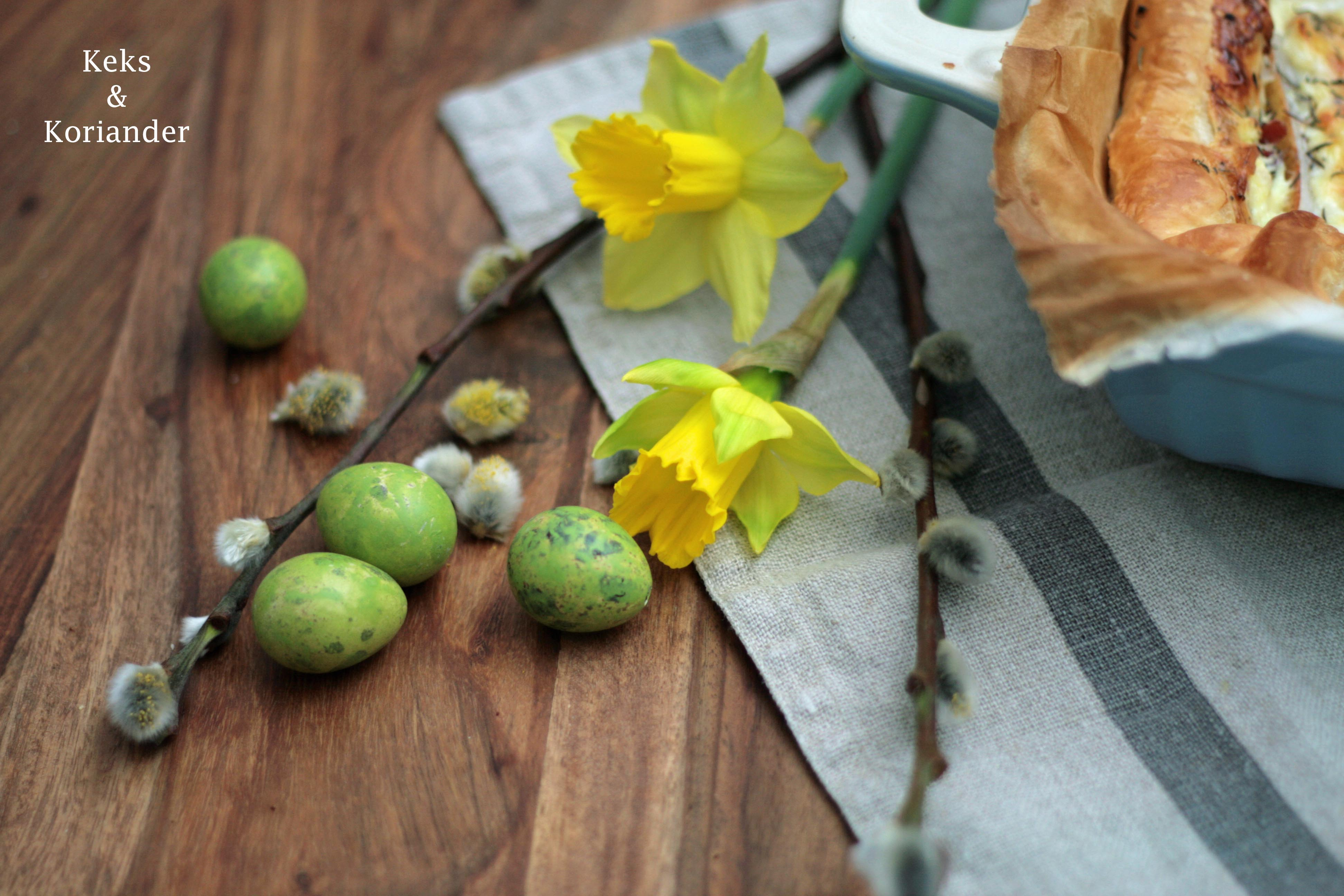 Quiche mit Birnen, Ziegenkäse, Gorgonzola, Thymian, Honig, Zwiebeln 2