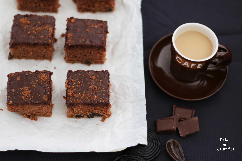 Isländischer Kuchen Skuffukaka Schokokuchen Kaffeeguss