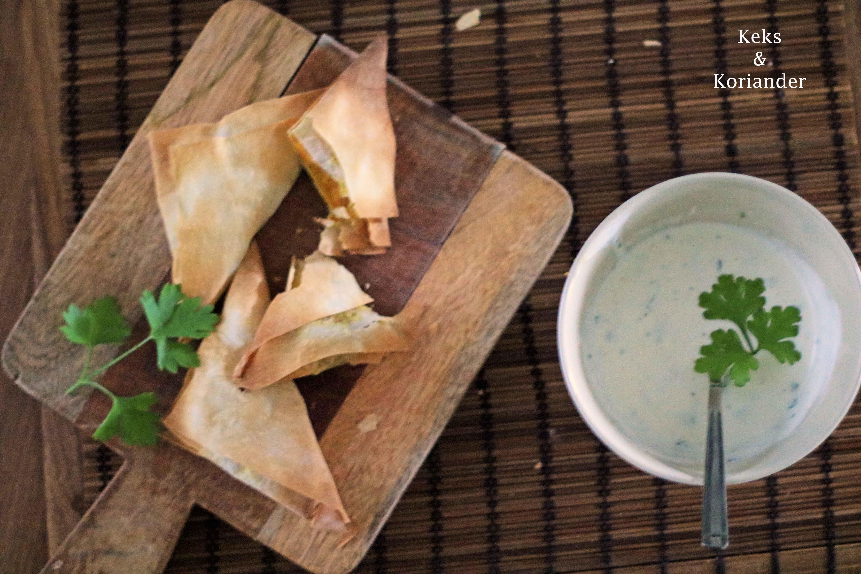 Samosas mit vegetarischer Füllung Süßkartoffel, Karotte, Paprika 2