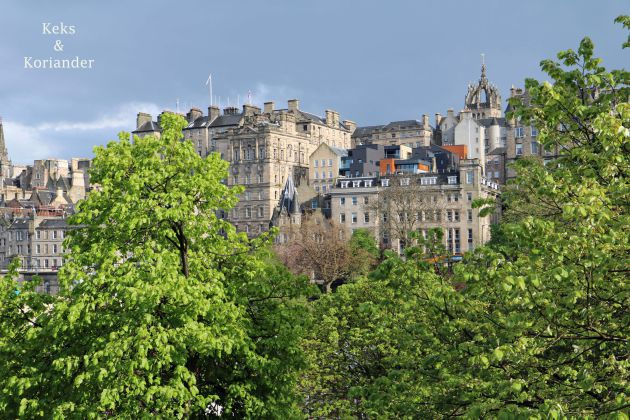 Edinburgh Schottland Castle Princess Street