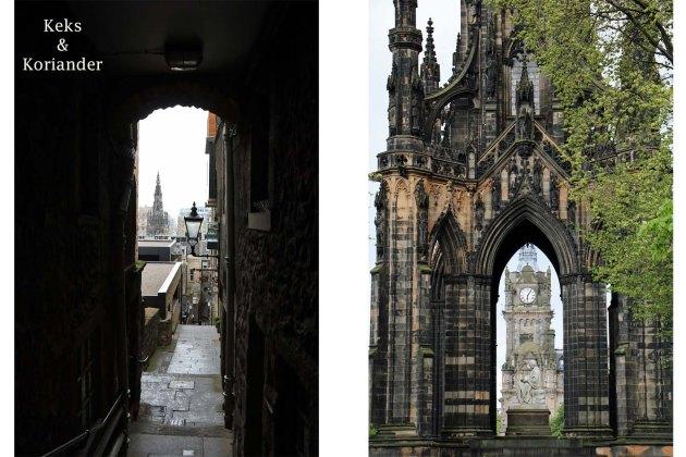 Edinburgh Schottland Princess Street Garden Old Town