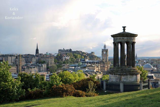 Edinburgh Schottland Ausblick Calton Hill
