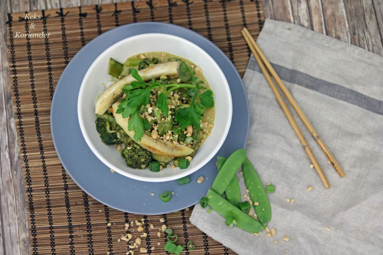 Grünes Thaicurry vegetarisch mit Banane 2