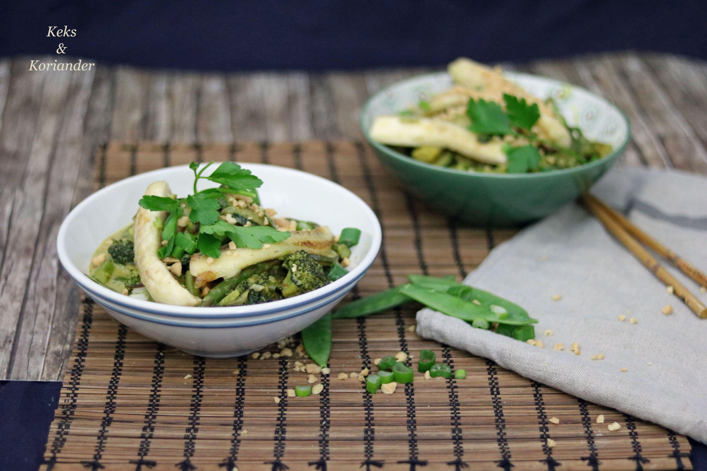 Grünes Thaicurry vegetarisch mit Banane 4