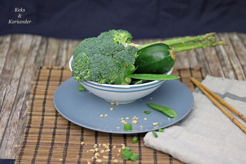Grünes Thaicurry vegetarisch mit Banane