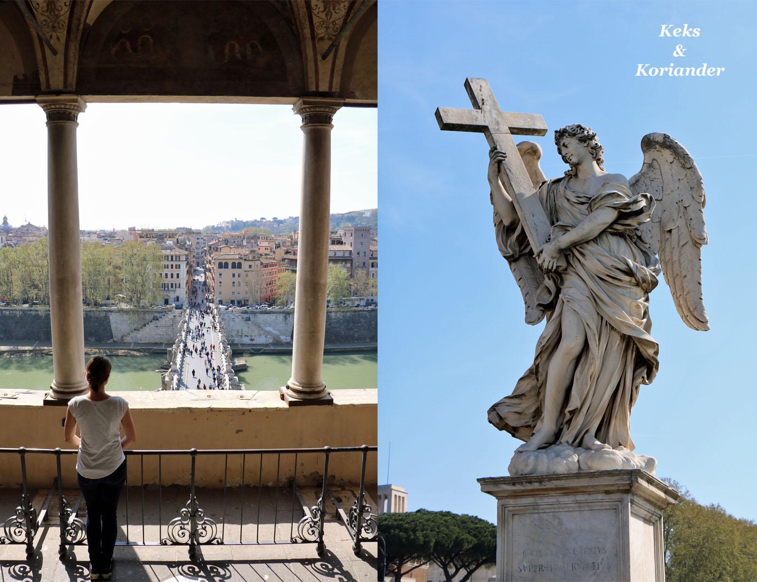 Rom Italien Engelsburg Ponte Sant`Angelo