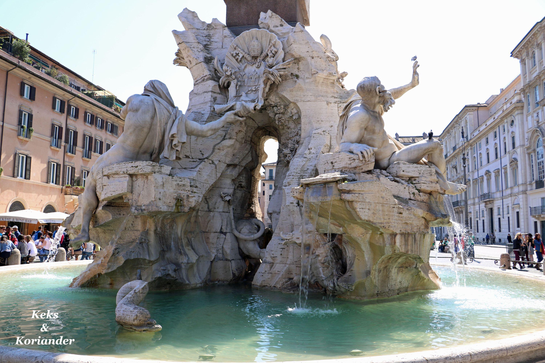 Rom Italien Piazza Navona Fontana dei Fiumi