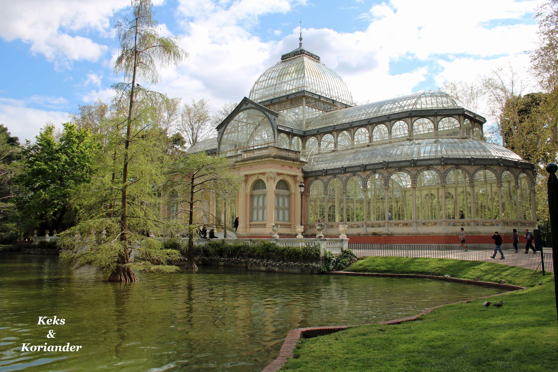 Retiro Park Glashaus Madrid Spanien