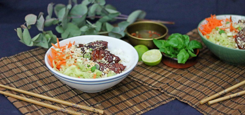 Vietnamesische Küche | Bun Cha Karamellisiertes Schweinefleisch Aus Der Vietnamesischen