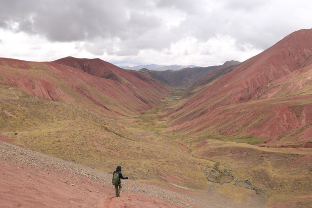 Red Valley Peru Rainbow Mountain