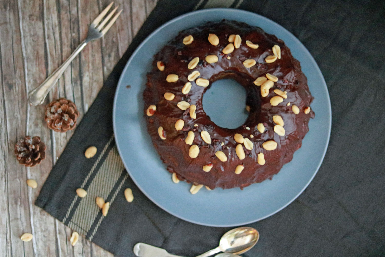 Erdnussmarmorkuchen mit Kakaonibs 4