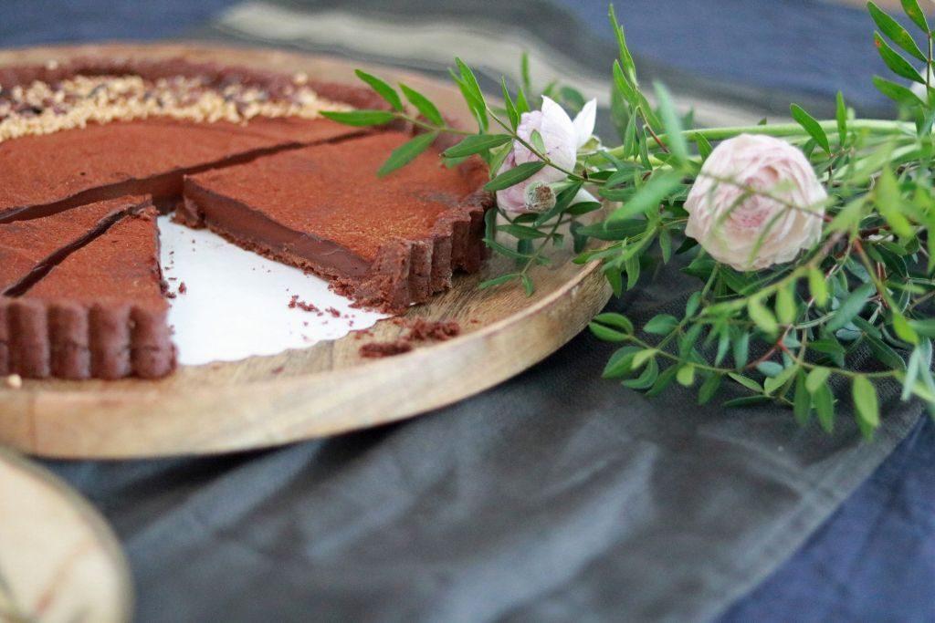 Schokoladentarte mit Kakaonibs