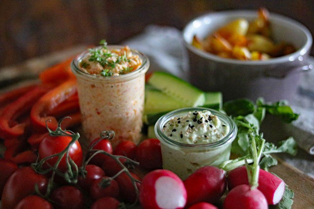 Dip Karotten-Paprika-Dip Avocadodip