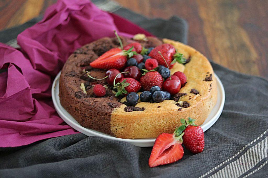 Beerenkuchen gemischt Schoko und Vanille