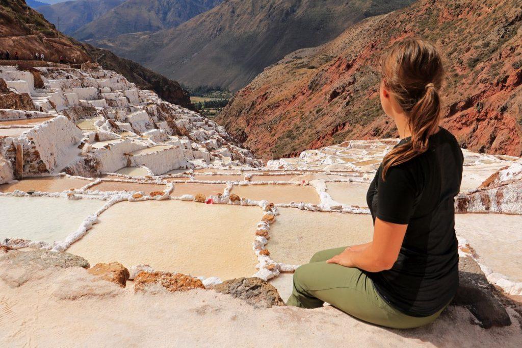Heiliges Tal Sacred Valley Urubamba Tal Peru Südamerika Salinas de maras