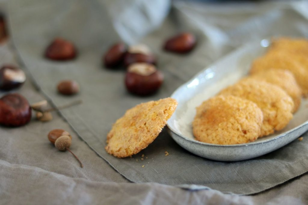 Kürbiscookies mit Zimtkruste