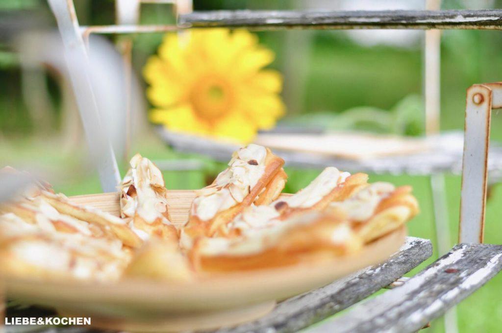 Eclairs weiße Schokolade Mandeln